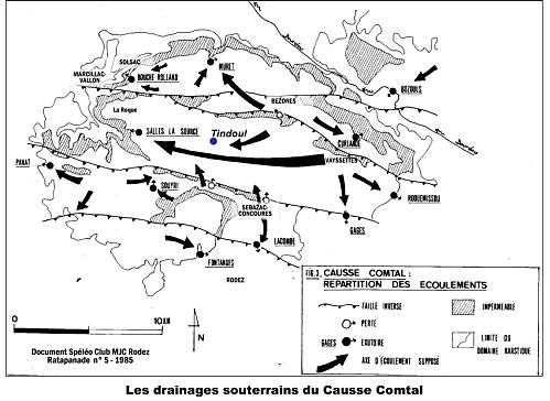 drainages souterrains du Causse Comtal