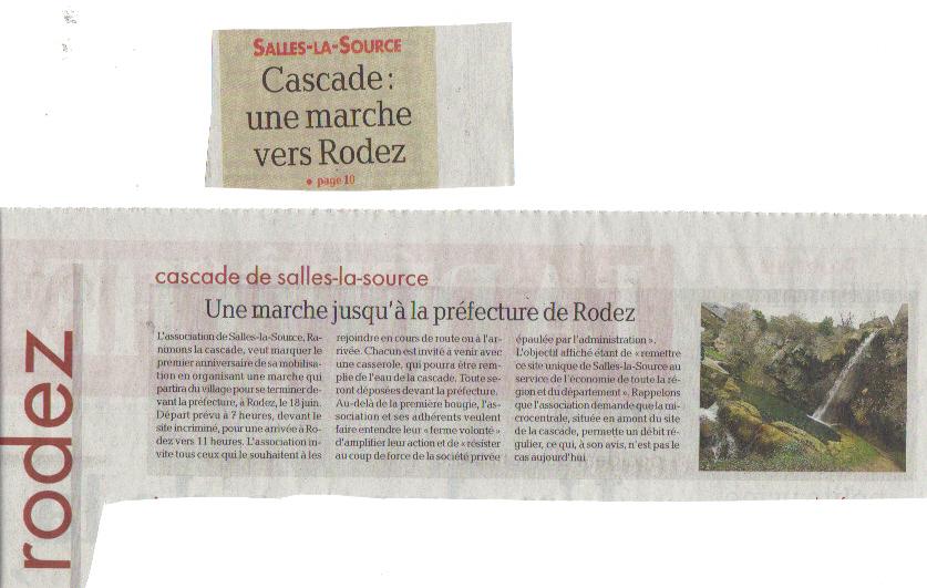 La dépêche : Une marche jusqu'à la préfecture de Rodez
