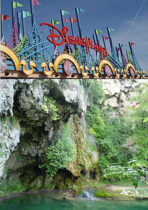 A Salles-la-Source, un cascade digne de Disneyland