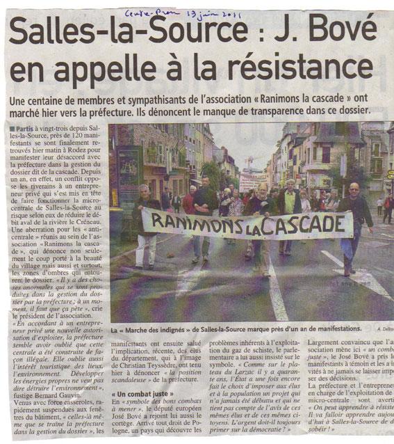 José Bové en appelle à la résistance