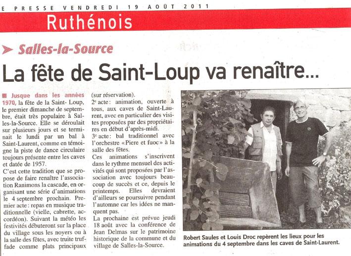 préparation Saint Loup 2011