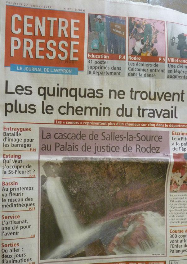 la cascade de Salles-la-Source au Tribunal de Rodez