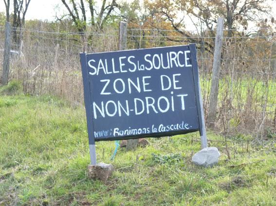 Salles-la-Source, zone de non-droit