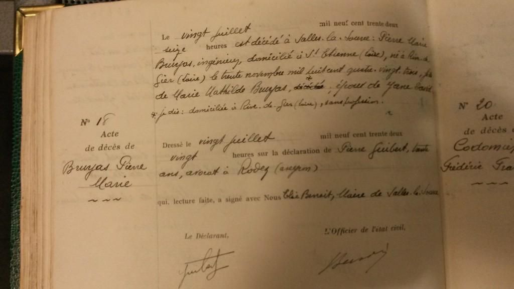 acte-deces-pierre-bruyas-20-juillet-1932